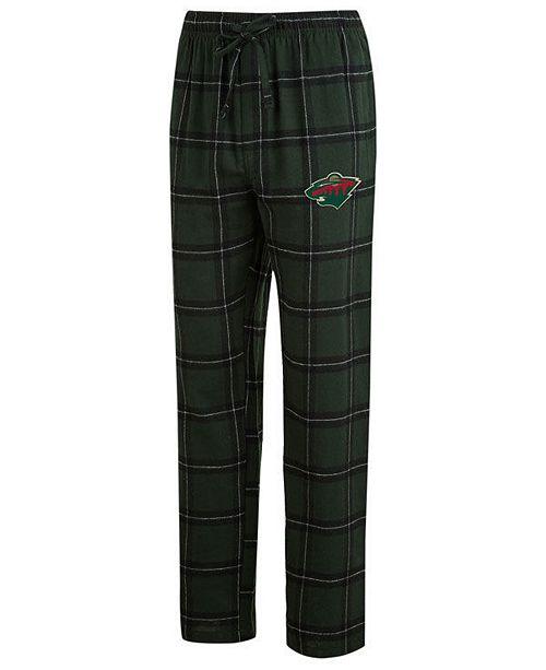 8a0ad6ca4d27 Concepts Sport Men s Minnesota Wild Homestretch Flannel Pajama Pants ...