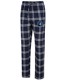 Concepts Sport Men's Minnesota Timberwolves Homestretch Flannel Sleep Pants
