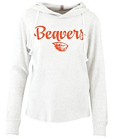 Pressbox Women's Oregon State Beavers Cuddle Knit Hooded Sweatshirt