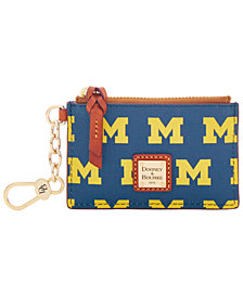 Dooney & Bourke Michigan Wolverines Zip Top Card Case
