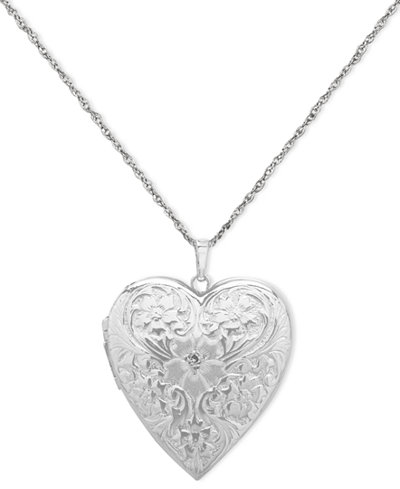 4 photo engraved heart locket in sterling silver. Black Bedroom Furniture Sets. Home Design Ideas