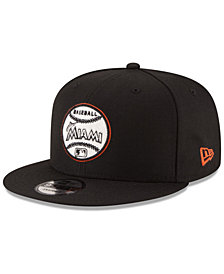 New Era Miami Marlins Vintage Circle 9FIFTY Snapback Cap