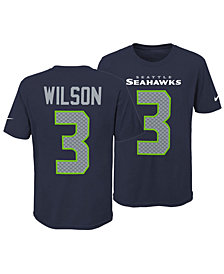 Nike Russell Wilson Seattle Seahawks Pride Name and Number 3.0 T-Shirt, Big Boys (8-20)