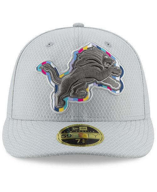 New Era Detroit Lions Crucial Catch Low Profile 59FIFTY Fitted Cap ... 7c4c8f8313ed