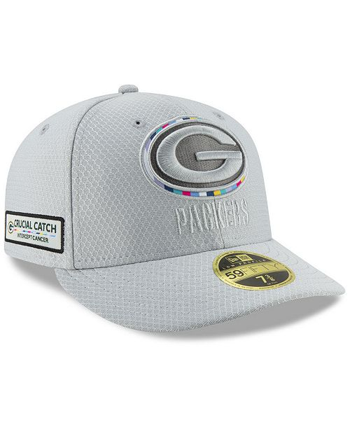 6426e93c286 ... New Era Green Bay Packers Crucial Catch Low Profile 59FIFTY Fitted Cap  ...