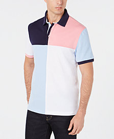 Club Room Men's Regular-Fit Stretch Colorblocked Polo, Created for Macy's