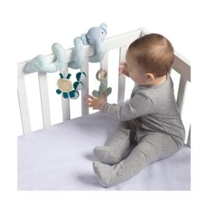 Manhattan Toy Safari Elephant Spiral Stroller And Crib Toy