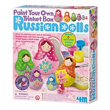 4M Paint Your Own Trinket Box Russian Dolls Kit