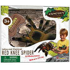 Dragon I Animotion Ir Remote Controlled Red Knee Flocked Spider