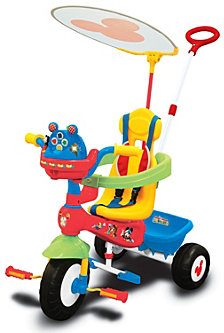Kiddieland Disney Mickey Mouse Clubhouse Push N Ride Trike