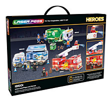 Laser Pegs Heroes Fire Truck 280 Piece Construction Block Set