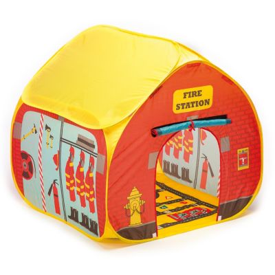 Fun2Give Pop It Up Firestation Tent With Streetmap Playmat