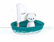 Plantoys Sailing Boat Water Toy Polar Bear