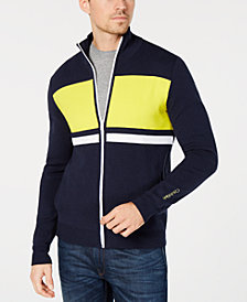 Calvin Klein Men's Colorblocked Striped Milano Cardigan
