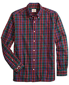 Brooks Brothers Mens Slim Fit Flannel Tartan Shirt