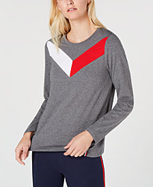 Tommy Hilfiger Sport Colorblocked Crew-Neck Top