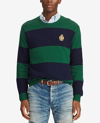 Polo Ralph Lauren Mens Striped Sweater Created For Macys