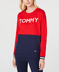 Tommy Hilfiger Colorblocked Logo-Graphic Sweatshirt