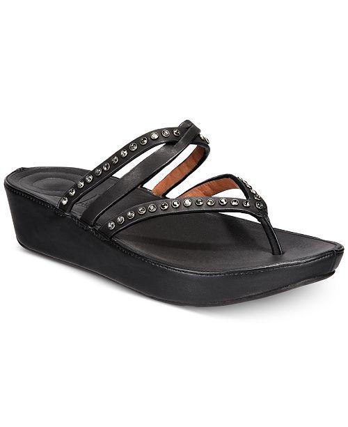 d3070d8191e10c FitFlop Linny Wedge Sandals   Reviews - Sandals   Flip Flops - Shoes ...