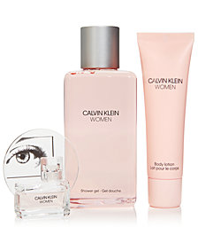 Receive a 3-Pc. gift with a large spray purchase from the Calvin Klein Women Fragrance Collection, Created For Macy's