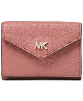 michael kors shiny leather trifold flap wallet handbags rh macys com