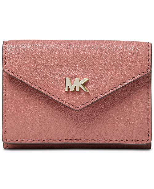 5e78d0369aeeac Michael Kors Shiny Leather Trifold Flap Wallet & Reviews - Handbags ...