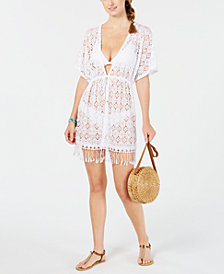 Miken Juniors' Crochet Kimono Cover-Up