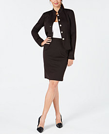 Tommy Hilfiger Mandarin-Collar Jacket & Pencil Skirt