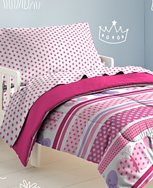 Dream Factory Butterfly Dots Toddler Comforter Set