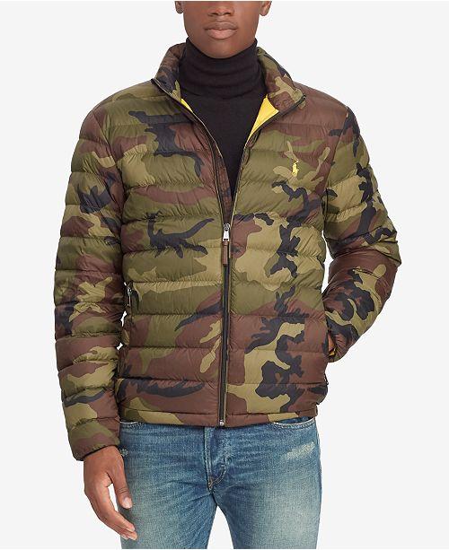 Polo Men's Down Ralph Lauren Packable Camouflage Jacket 9IEDWH2