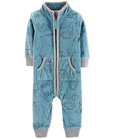Carter's Baby Boys 1-Pc. Full-Zip Fleece Jumpsuit