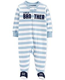 Baby Boys 1-Pc. Brother Cotton Footed Pajamas