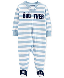 Carter's Baby Boys 1-Pc. Brother Cotton Footed Pajamas