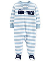 89995596e1 Carter s Baby Boys 1-Pc. Brother Cotton Footed Pajamas