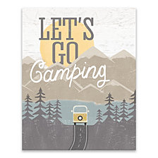 Let's Go Camping Printed Canvas