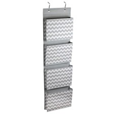 Home Basics Chevron Collection Over the Door Hanging File Organizer