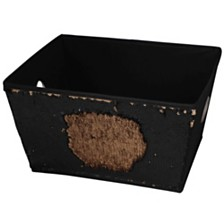 Home Basics Medium Reversible Sequin Storage Bin