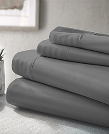 Expressed In Embossed by The Home Collection Striped 3 Piece Bed Sheet Set, Twin