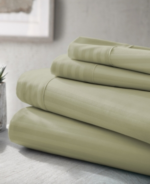 Expressed In Embossed by The Home Collection 4 Piece Bed Sheet Set, California King Bedding