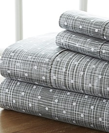 The Timeless Classics by Home Collection Premium Ultra Soft Pattern 4 Piece Bed Sheet Set - Cal King