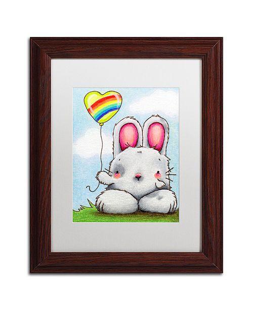 "Trademark Global Jennifer Nilsson Happy Day Matted Framed Art - 16"" x 20"" x 0.5"""