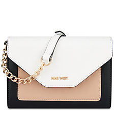Nine West Aleksei Python-Embossed Crossbody