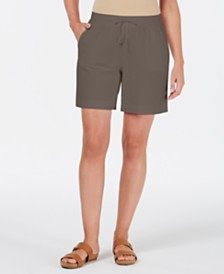 Karen Scott Petite Drawstring Shorts, Created for Macy's