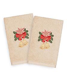 Linum Home Christmas Bells 100% Turkish Cotton 2-Pc. Hand Towel Set