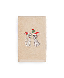 Linum Home Christmas Cute Couple 100% Turkish Cotton Hand Towels