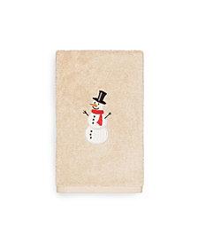Linum Home Snowman 100% Turkish Cotton Hand Towels