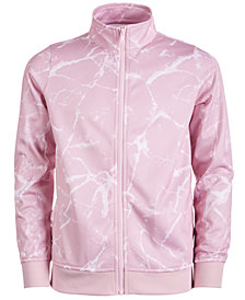 Ideology Big Girls Marble-Print Active Track Jacket, Created for Macy's