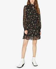 Sanctuary Floral-Print Smocked Dress