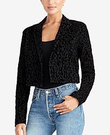 RACHEL Rachel Roy Cropped Leopard-Print Jacket