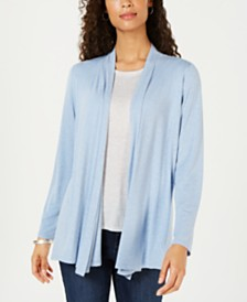3e5f99ba44d2f4 Karen Scott Draped Open-Front Cardigan